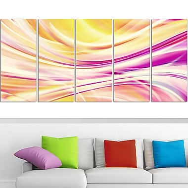Candy Stripes Digital Metal Wall Art, 60x28, 5 Panels, (MT3004-401)