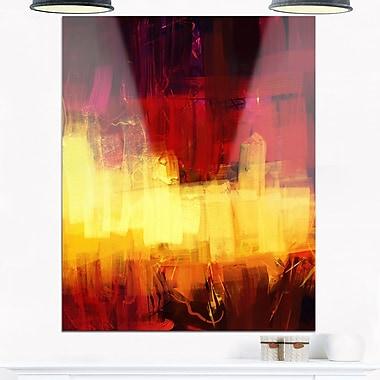 Art mural abstrait en métal, art abstrait numérique texturé, 12 x 28 po, (MT6185-12-28)