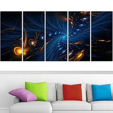 Art mural en métal, éclairage numérique, 60 x 28 po, 5 panneaux (MT3000-401)