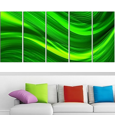 Green Laser Metal Wall Art, 60x28, 5 Panels, (MT3038-401)