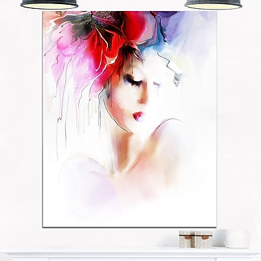 Fashion Woman Illustration Digital Metal Wall Art, 12x28, (MT6697-12-28)