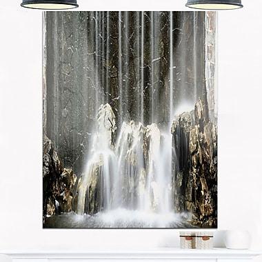 Art mural en métal, photographie de rivière dans les montagnes, 12 x 28 (MT7004-12-28)