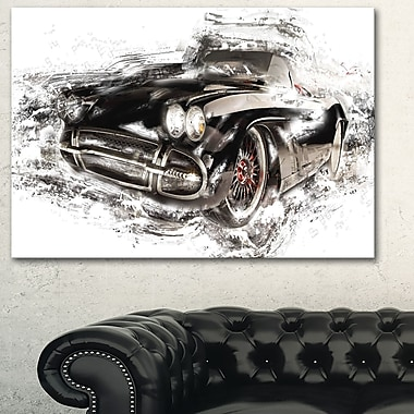 Black Convertible Roadster Metal Wall Art, 28x12, (MT2651-28-12)