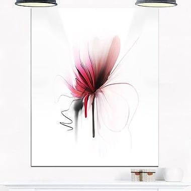 Art mural en métal, fleur abstraite, art numérique, 12 x 28 (MT6656-12-28)