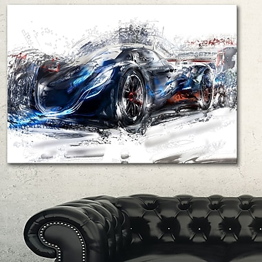 Black Speedster Car Metal Wall Art, 28x12, (MT2623-28-12)