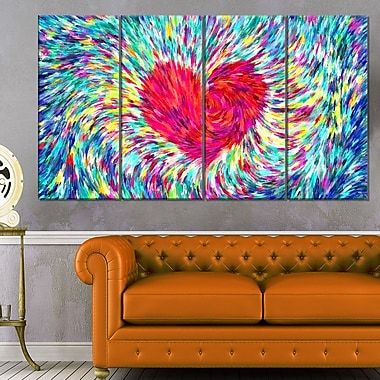 Pastel Heart Sensual Metal Wall Art, 48x28, 4 Panels, (MT2932-271)