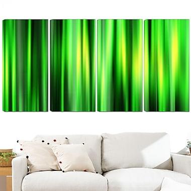 Art mural en métal, bambou abstrait, 48 x 28 po, 4 panneaux, (MT3052-271)