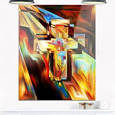 Light of the Cross Abstract Metal Wall Art, 12x28, (MT6046-12-28)