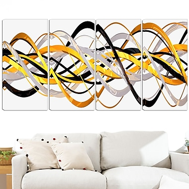 Gold and Silver Helix Metal Wall Art, 48x28, 4 Panels, (MT3043-271)