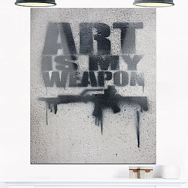 Art is My Weapon Contemporary Metal Wall Art, 12x28, (MT6928-12-28)