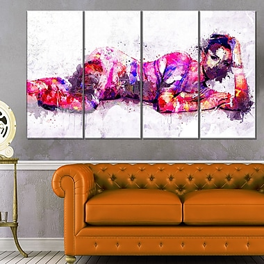 Pose for YouSensual Metal Wall Art, 48x28, 4 Panels, (MT2924-271)