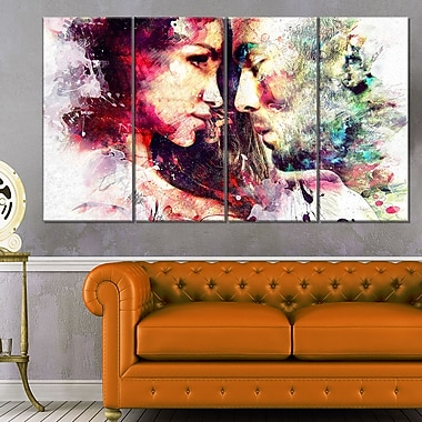 One and OnlySensual Metal Wall Art, 48x28, 4 Panels, (MT2908-271)
