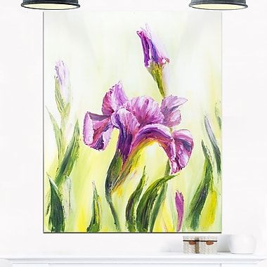 Dancing Irises, art mural floral en métal, 12 x 28 (MT6323-12-28)