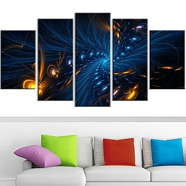 Illumination Digital Metal Wall Art, 60x32, 5 Panels, (MT3000-373)