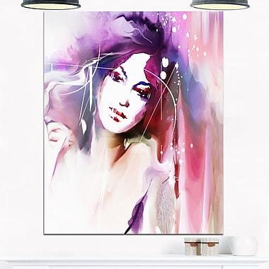 Art mural en métal, portrait d'une femme avec couronne, art contemporain, 12 x 28 (MT6690-12-28)
