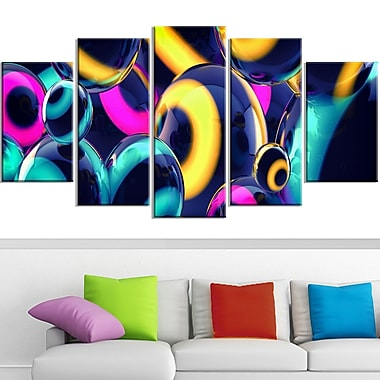 Spherical Insight Metal Wall Art, 60x32, 5 Panels, (MT3094-373)