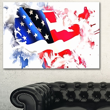 Colours of America Map Metal Wall Art, 28x12, (MT2826-28-12)