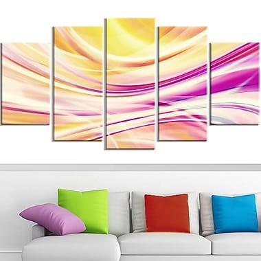 Candy Stripes Digital Metal Wall Art, 60x32, 5 Panels, (MT3004-373)
