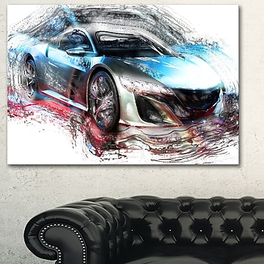 Exotic SuperCar Metal Wall Art, 28x12, (MT2624-28-12)