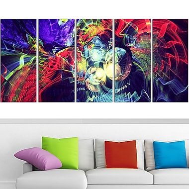 Colour Collision Metal Wall Art, 60x28, 5 Panels, (MT3078-401)