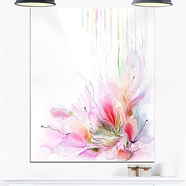 Floral Composition Abstract Floral Metal Wall Art, 12x28, (MT6699-12-28)
