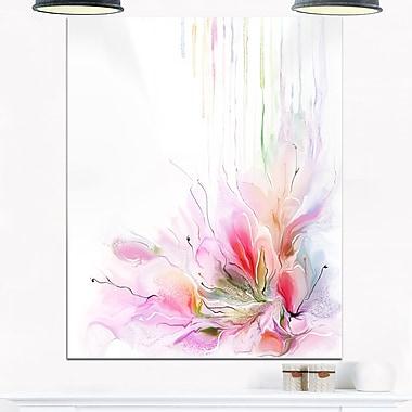 Art mural en métal, composition florale, art abstrait, 12 x 28 (MT6699-12-28)