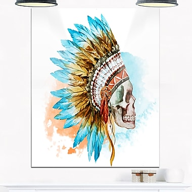 Ethnic Skull Digital Metal Wall Art, 12x28, (MT6619-12-28)