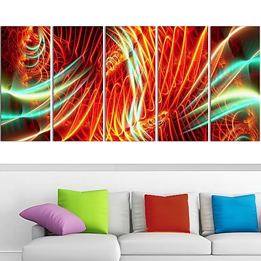Light Show Abstract Metal Wall Art, 60x28, 5 Panels, (MT3021-401)