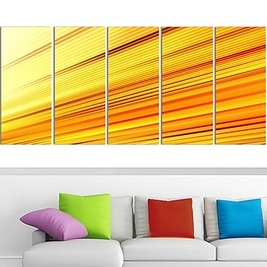 Speed of Light Metal Wall Art, 60x28, 5 Panels, (MT3091-401)