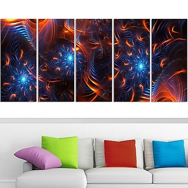 Fire & Ice Digital Metal Wall Art, 60x28, 5 Panels, (MT3001-401)
