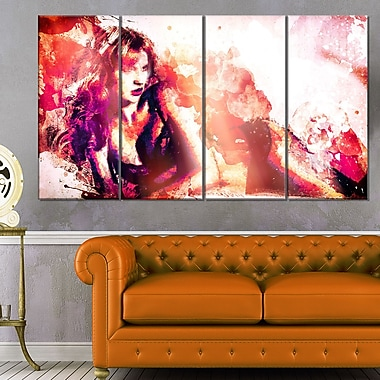 Waiting for YouSensual Metal Wall Art, 48x28, 4 Panels, (MT2925-271)