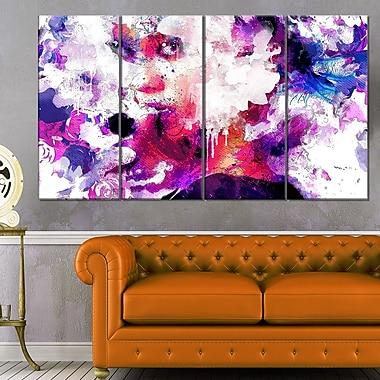 Art mural en métal sensuel, beauté abstraite, 48 x 28 po, 4 panneaux (MT2909-271)