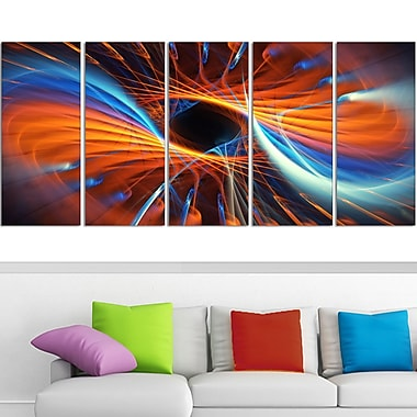Centered Digital Metal Wall Art, 60x28, 5 Panels, (MT3005-401)