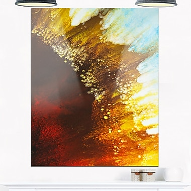 Art mural abstrait en métal, Souffle de brun, 12 x 28 po, (MT6387-12-28)