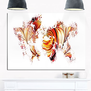 Red and Orange Map Metal Wall Art, 28x12, (MT2736-28-12)