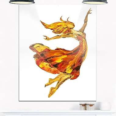 Fire Ballerina Portrait Metal Wall Art, 12x28, (MT6335-12-28)