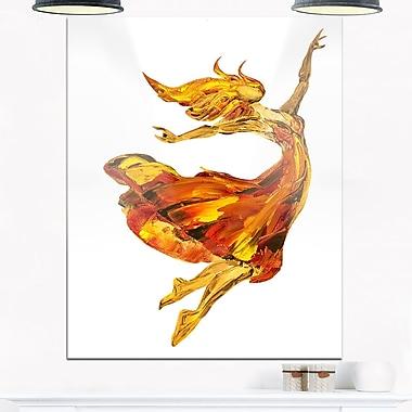 Fire Ballerina, portrait en métal, 12 x 28 (MT6335-12-28)