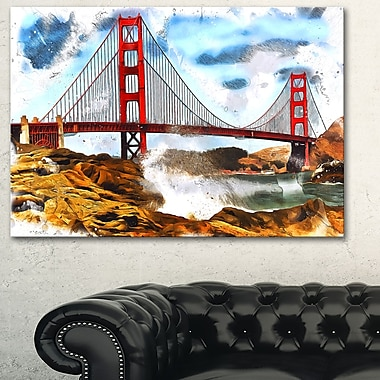 Sanfrancisco Metal Wall Art, 28x12, (MT2819-28-12)