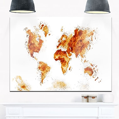 Map Metal Wall Art, 28x12, (MT2708)