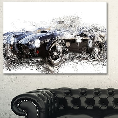 Black Roadster Convertible Metal Wall Art, 28x12, (MT2644-28-12)
