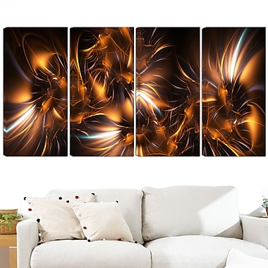 Silver and Gold Stars Metal Wall Art, 48x28, 4 Panels, (MT3039-271)
