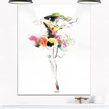 Beautiful Fashion Girl Portrait Metal Wall Art, 12x28, (MT6700-12-28)