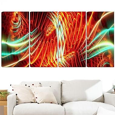 Art mural abstrait en métal, spectacle de lumières, 48 x 28 po, 4 panneaux, (MT3021-271)