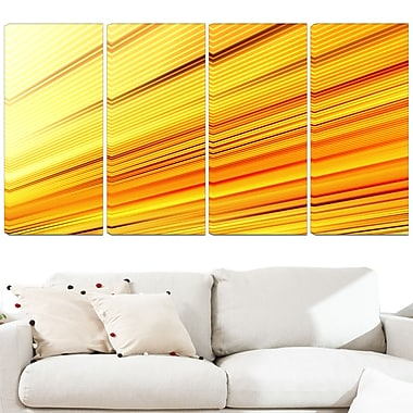 Speed of Light, art mural en métal, 48 x 28, 4 panneaux (MT3091-271)