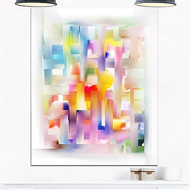 Colourful Seamless Pattern Abstract Metal Wall Art, 12x28, (MT6649-12-28)