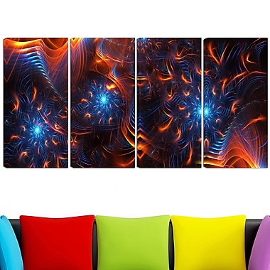 Fire & Ice Digital Metal Wall Art, 48x28, 4 Panels, (MT3001-271)