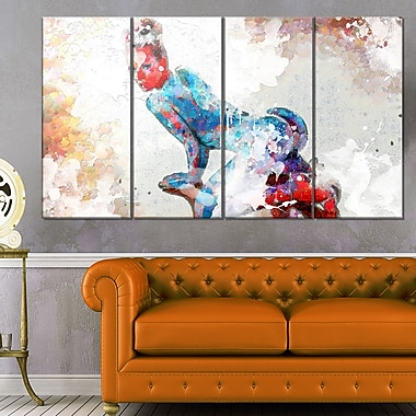 Seductive PoseSensual Metal Wall Art, 48x28, 4 Panels, (MT2926-271)
