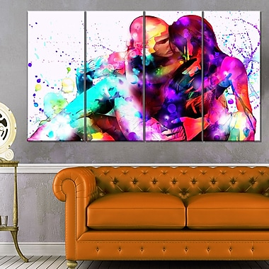 Colourful EmbraceSensual Metal Wall Art, 48x28, 4 Panels, (MT2910-271)