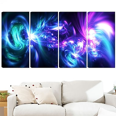 Bursts of Light Metal Wall Art, 48x28, 4 Panels, (MT3058-271)