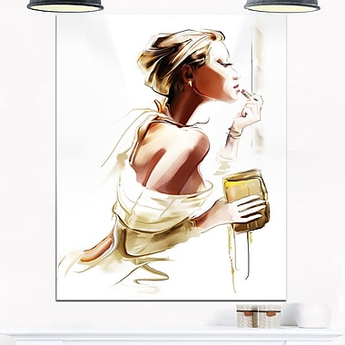Fashion Woman Portrait Digital Metal Wall Art, 12x28, (MT6659-12-28)